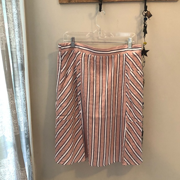 Roolee Dresses & Skirts - ROOLEE pink, white, navy stripe skirt with pockets